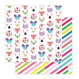Cute Critters 12x12 Paper-Pretty Little Studio Color Me Happy