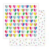 Heart Eyes 12x12 Paper-Pretty Little Studio Color Me Happy