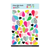 Heart Beat Stickers-Pretty Little Studio Color Me Happy