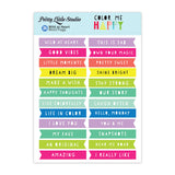 Wild At Heart Word Flags-Pretty Little Studio Color Me Happy
