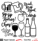 Cheers Time!-Free Cut File