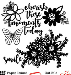 Cherish Florals-Free Cut File
