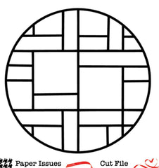 Circle Grid for 3x3-Free Cut File