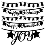 Holiday Banners Free Cut File