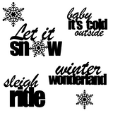 Let It Snow Free Cut File