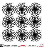 Dahlia Background-Free Cut File