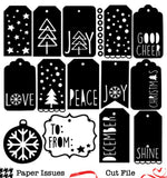 December Tags-Free Cut File