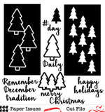 December Trees TN Pages-Free Cut File