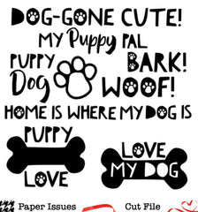 Dog-Gone Cute!-Free Cut File