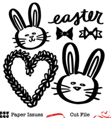 Easter Bunny Love-Free Cut File