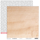 Woodgrain 12x12 Paper-Elle's Studio Live Laugh Love