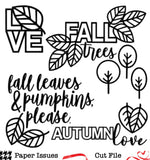 Fall Trees Please-Free Cut File