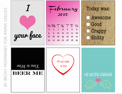 All You Need is Love/Beer Me-February Free Printable File