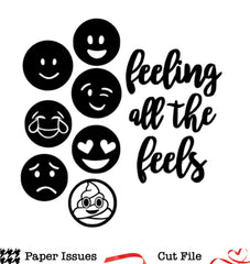 Feeling All The Feels Emojis-Free Cut File
