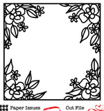 Floral Window Frame-Free Cut File
