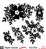 Floral Frenzy-Free Cut File