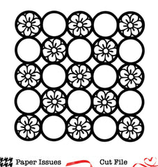 Floral Circle Grid Free Cut File