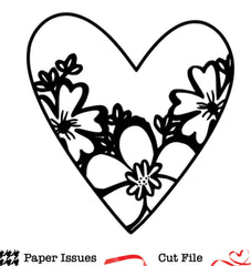 Floral Heart Free Cut File