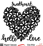 Floral Sweetheart-Free Cut File