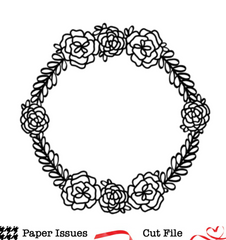 Flower Round-Free Cut File