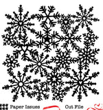 Freeze Frame Snowflakes-Free Cut File