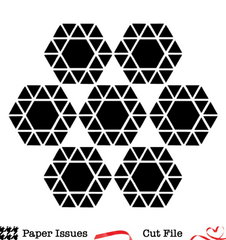 Geo Hexagon Background-Free Cut File