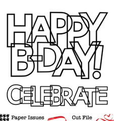 Happy B-Day!-Free Cut File