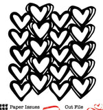 Heart Line Up-Free Cut File
