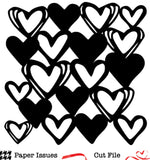 Hearts Background Free Cut File