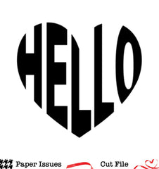 Hello Heart Background-Free Cut File