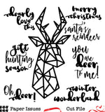 Holiday Geometric Stag Free Cut File