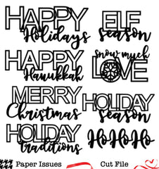 Holiday Titles-Free Cut File