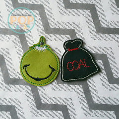Bag of Coal for the Grinch PaperPOPs Planner Clips