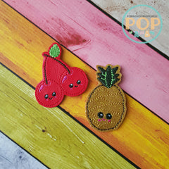 Golden Pineapple & Cherries PaperPOPs Planner Clips