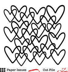 Interlocking Hearts Background Free Cut File
