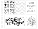 Color My World Free Printable File