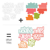 Fun Day Offset Title Die Cuts-Indian Summer-Pretty Little Studio