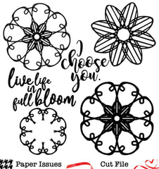 Live Life In Full Bloom-Free Cut File