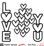 Love You Hearts-Free Cut File