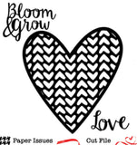 Love in Full Bloom Free Cut File