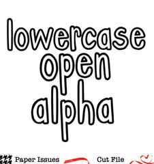 Lowercase Open Alpha-Free Cut File