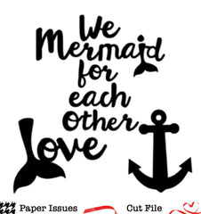 Mermaid For Each Other Free Cut File