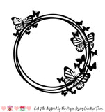 Monarch Butterfly Wreath Free Cut File