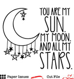 Moon and Stars-Free Cut File