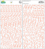 Puffy Script Stickers-Office Hours-Pinkfresh Studio