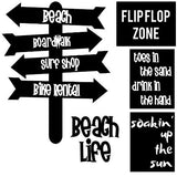 Beach Life Free Cut File