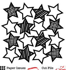 Patterned Stars Background-Free Cut File