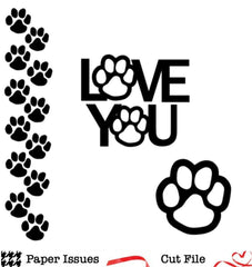 Paws Love Free Cut File