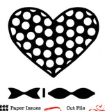 Polka Dot Heart & Bow Free Cut File