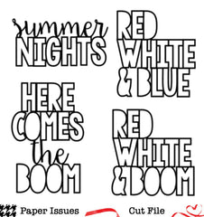 Red White and Boom- Free Cut File